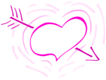Free Stock Photo: Illustration of a pink heart with an arrow