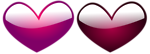 Free Stock Photo: Illustration of purple and red hearts.