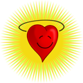 Free Stock Photo: Illustration of a happy red heart