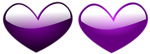 Free Stock Photo: Illustration of purple hearts.