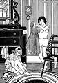 Free Stock Photo: Vintage illustration of two young girls getting dressed