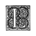 Free Stock Photo: Vintage illustration of an ornate letter L