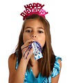 Free Stock Photo: A cute young girl celebrating a birthday