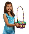 Free Stock Photo: A cute young girl holding an Easter basket