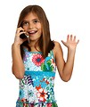 Free Stock Photo: A pretty young girl talking on a cell phone