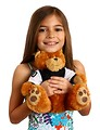 Free Stock Photo: A pretty young girl holding a teddy bear
