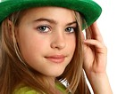 Free Stock Photo: A beautiful young girl dressed for Saint Patrick