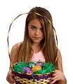 Free Stock Photo: A beautiful young girl holding an Easter basket