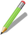Free Stock Photo: Illustration of a pencil.