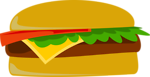 Free Stock Photo: Illustration of a cheeseburger