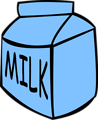 Free Stock Photo: Illustration of a carton of milk