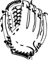 Free Stock Photo: Illustration of a baseball mitt.