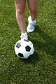 Free Stock Photo: Closeup of feet and a soccer ball