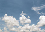 Free Stock Photo: Clouds in a blue sky