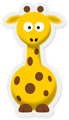 Free Stock Photo: Cartoon illustration of a giraffe