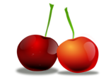 Free Stock Photo: Illustration of cherries