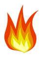 Free Stock Photo: Illustration of a flame