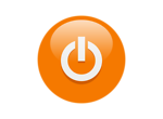 Free Stock Photo: Illustration of an orange power button icon