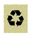 Free Stock Photo: Illustration of a recycle symbol on paper