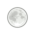 Free Stock Photo: Illustration of the full moon with a transparent background.