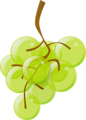 Free Stock Photo: Illustration of a bunch of green grapes