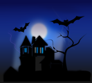 Free Stock Photo: Illustration of a haunted house
