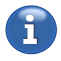 Free Stock Photo: Illustration of a blue information button