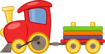 Free Stock Photo: Illustration of a cartoon toy train