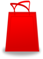 Free Stock Photo: Illustration of a red shopping bag
