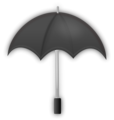 Free Stock Photo: Illustration of a gray umbrella