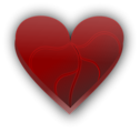 Free Stock Photo: Illustration of a broken red heart