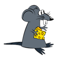 Free Stock Photo: Illustration of a cartoon rat