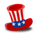 Free Stock Photo: Illustration of a 4th of July hat