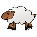 Free Stock Photo: Illustration of a sheep