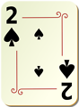 Free Stock Photo: Illustration of a Two of Spades playing card