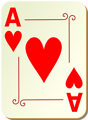 Free Stock Photo: Illustration of an Ace of Hearts playing card