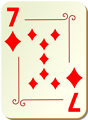 Free Stock Photo: Illustration of a Seven of Diamonds playing card