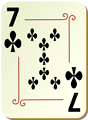 Free Stock Photo: Illustration of a Seven of Clubs playing card