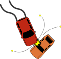 Free Stock Photo: Illustration of an auto accident