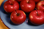 Free Stock Photo: A plate of red Rome Beauty apples