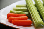 Free Stock Photo: Close-up of fresh vegetables on a white plate