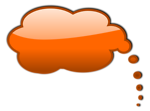 Free Stock Photo: Illustration of an orange cartoon speech bubble