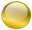 Free Stock Photo: Illustration of a blank glossy round button with a transparent background.