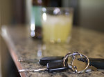 Free Stock Photo: Car keys and a bottle of beer