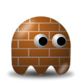 Free Stock Photo: Illustration of an arcade styled brick ghost