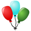 Free Stock Photo: Illustration of balloons with a transparent background.