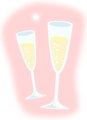 Free Stock Photo: Illustration of champagne glasses with a transparent background.