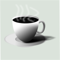 Free Stock Photo: Illustration of a hot cup of coffee
