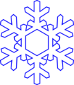 Free Stock Photo: Illustration of a snowflake with a transparent background.