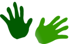 Free Stock Photo: Illustration of green hand prints